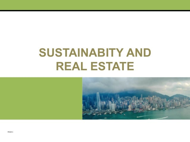 Sustainability & Real Estate