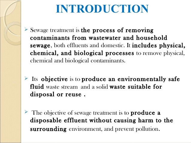 The Objective and Importance of Water Treatment