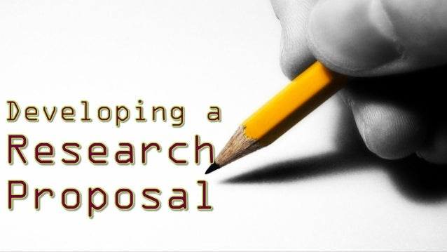 Research proposal powerpoint