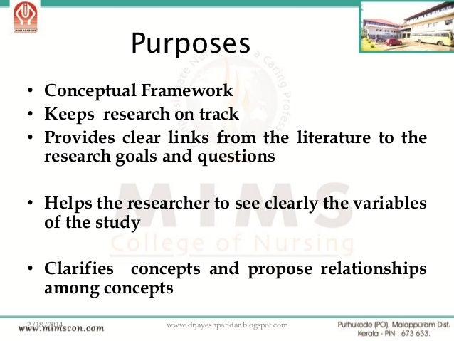 what is a conceptual framework and Conceptual framework most research reports cast the problem statement within the context of a conceptual or theoretical framework 4 a description of this framework contributes to a research report in at least two ways because it (1) identifies research variables, and (2) clarifies relationships among the variables.