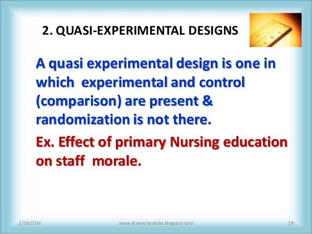 experimental and quasi experimental designs essay