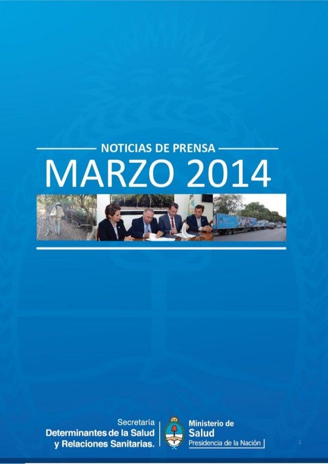Secretaría de Determinantes en los medios - MARZO 2014