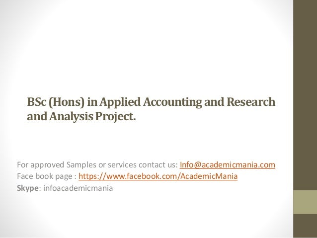 Accounting academic research project