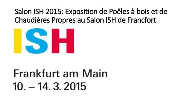 Salon ISH 2015: Exposition de Poêles à bois et de Chaudières Propres au Salon ISH de Francfort