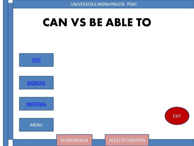 UNIVERSITAS INDRAPRASTA PGRINURASMALIA 201312570060/YQEXITCAN VS BE ...