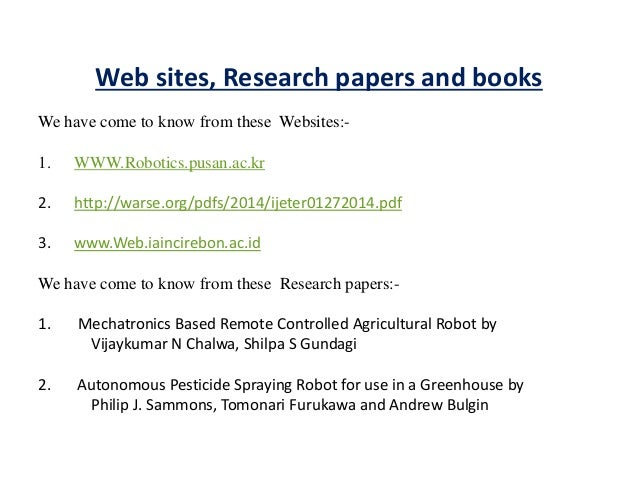 Agriculture research papers