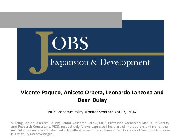 Labor Policy Analysis for Jobs Expansion and Development