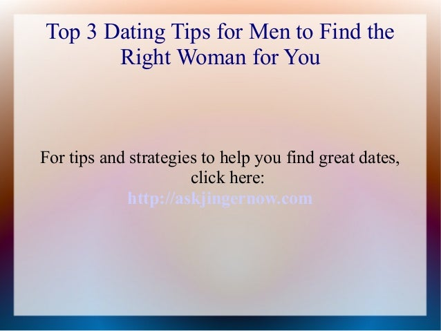 dating tips for menn kvinneguiden seksualitet