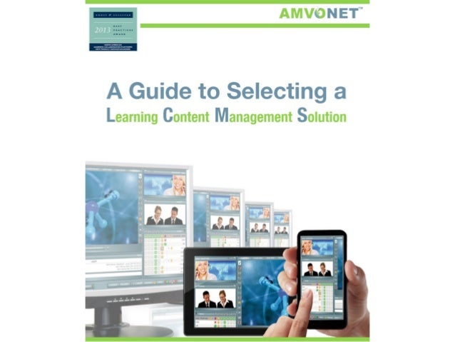AMVONET Learning Content Management: Choosing the Right LCMS