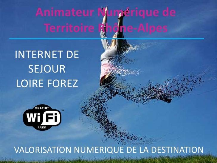 Animateur Numérique de     Territoire Rhône-AlpesINTERNET DE  SEJOURLOIRE FOREZVALORISATION NUMERIQUE DE LA DESTINATION