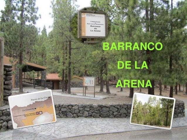 BARRANCO DE LA ARENA