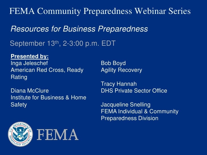Resources for Business Preparedness