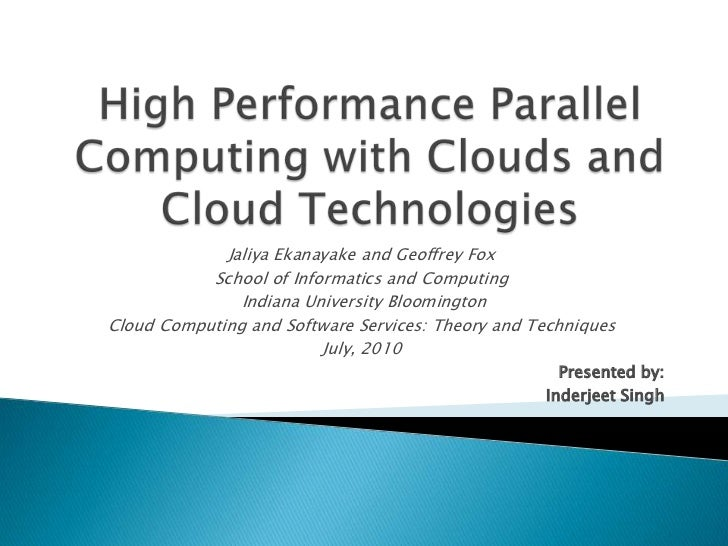 HPC with Clouds and Cloud Technologies
