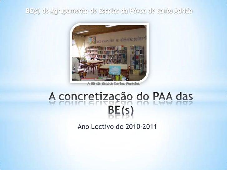 Ano Lectivo de 2010-2011
