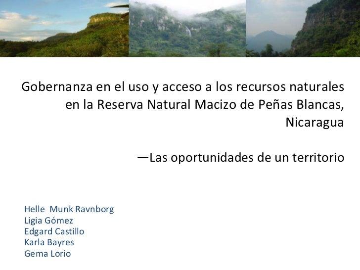 Presentación Encuentro 2010 - Reserva Natural Macizo Penas Blancas, Nicaragua