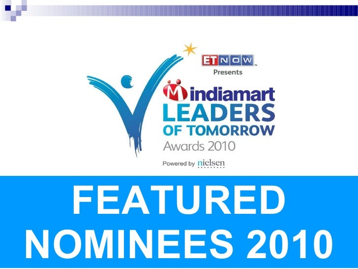 FEATURED NOMINEES 2010