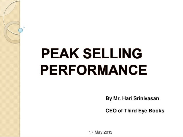 By Mr. Hari SrinivasanCEO of Third Eye Books17 May 2013
