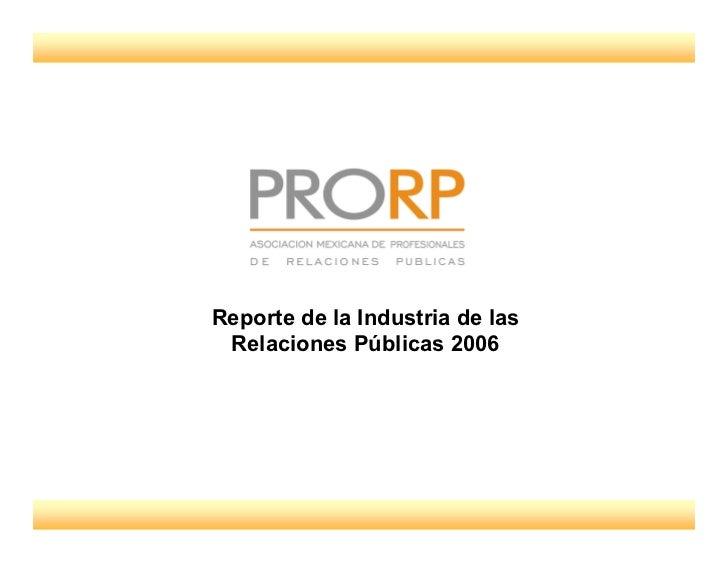 Ppt Informe 1er Estudio De Prorp 2007.Pdf