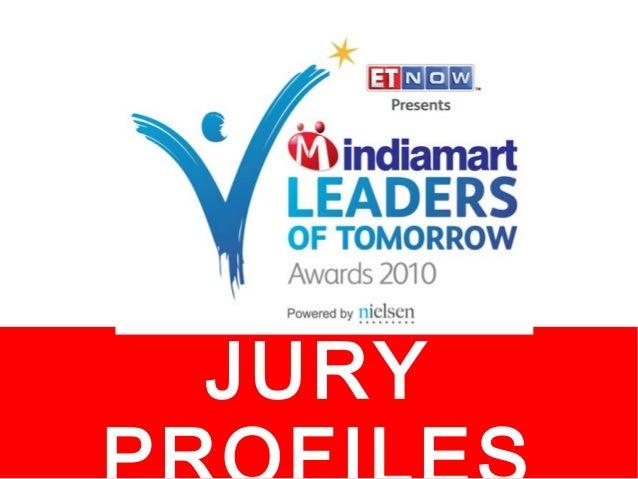 IndiaMART Leaders of Tomorrow Awards 2010- Jury Members