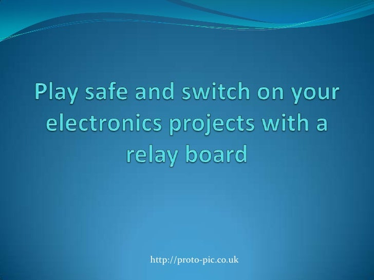 play safe and switch on your electronics