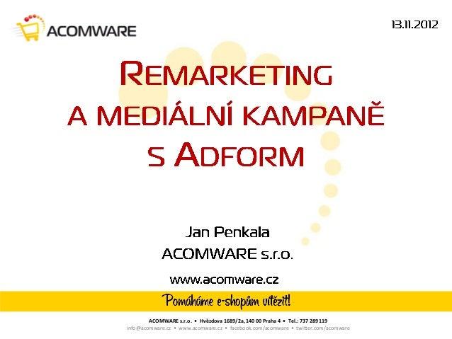 ACOMWARE s.r.o. • Hvězdova 1689/2a, 140 00 Praha 4 • Tel.: 737 289 119info@acomware.cz • www.acomware.cz • facebook.com/ac...