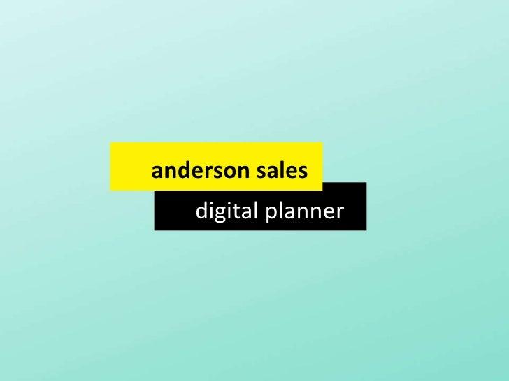 digital planner anderson sales