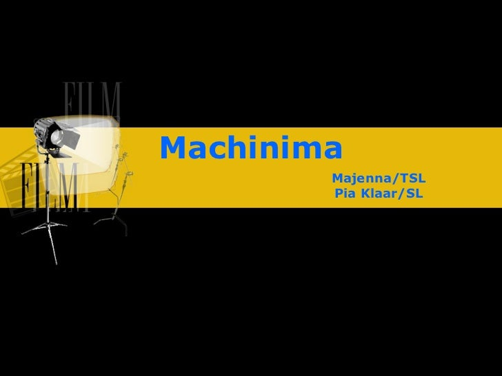 Machinima Majenna/TSL Pia Klaar/SL