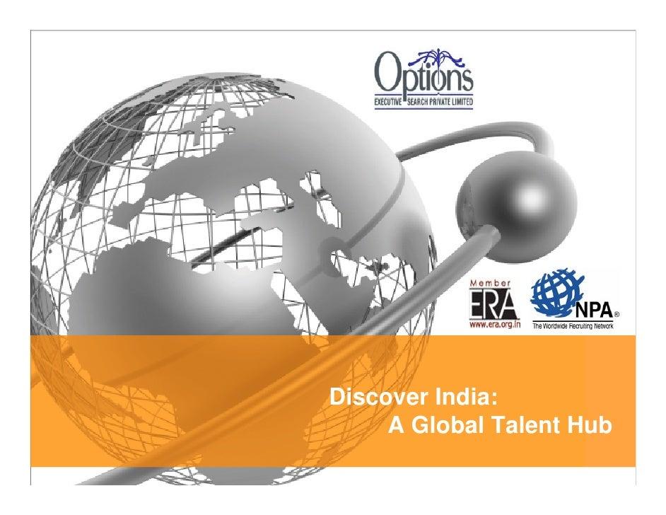Discover India:      A Global Talent Hub