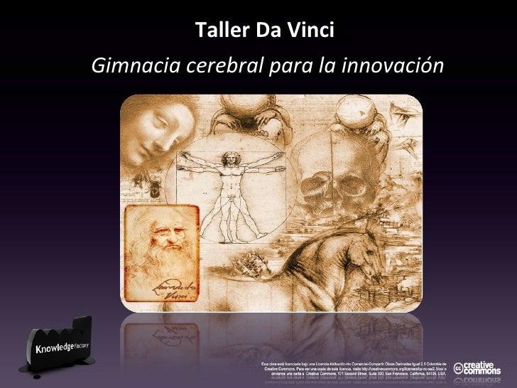 Taller Da Vinci   Gimnacia cerebral para la innovación