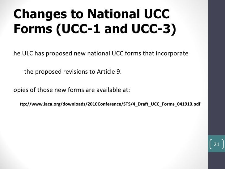 ucc 3 assignment Ucc forms the following pdf forms are provided to assist with your ucc processing: new ucc forms survey ucc 101 – filing office presentation ucc e-file by state.