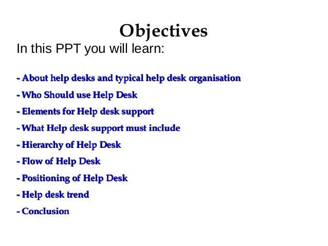 Help Desk Presentation - PowerPoint PPT Presentation