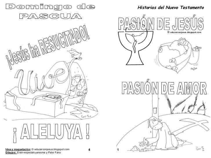 4 Historias del Nuevo Testamento ©  educarconjesus.blogspot.com 1 Idea y maquetación : © educarconjesus.blogspot.com Dibuj...