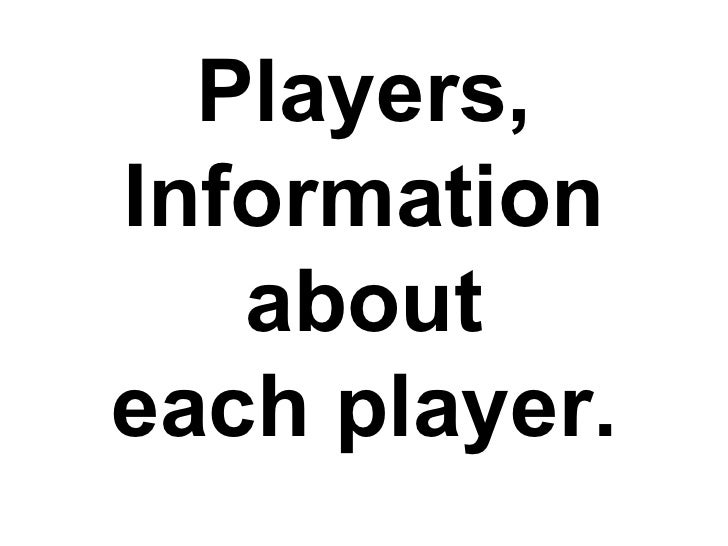Players, Information about each player.