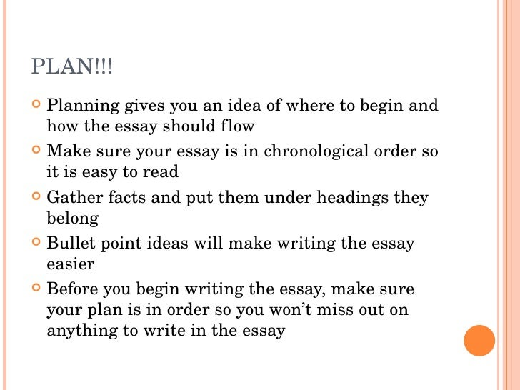 Correct way to write an essay