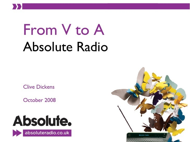 From V to A Absolute Radio Clive Dickens October 2008