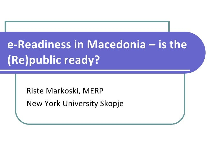 E-Readiness in Macedonia: Is the Public Ready? - Risete Markoski @ Glocal: Inside Social Media