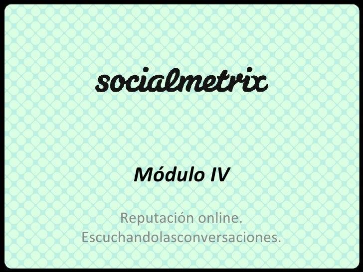 Reputación online - Social Media Marketing