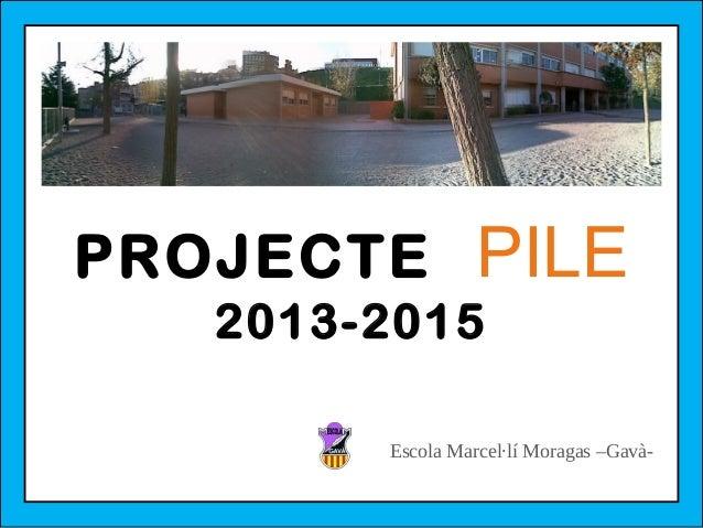 PROJECTE  PILE  2013-2015  Escola Marcel·lí Moragas –Gavà-