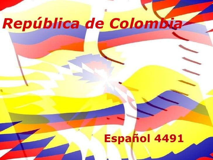 Republica de Colombia (general)