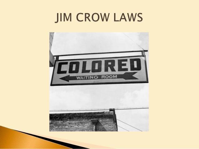 jim crow law paper