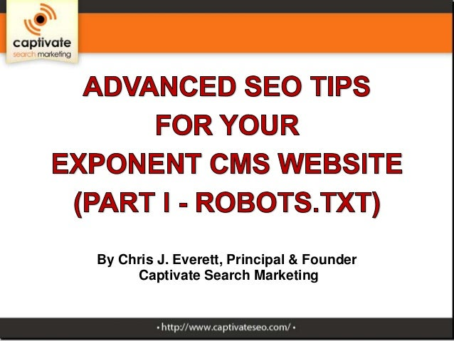 Part 1 of Advanced SEO tips for Exponent CMS