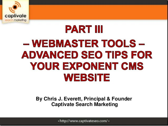 Part 3 of Advanced SEO tips for Exponent CMS