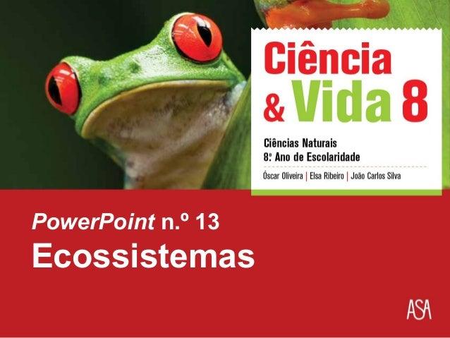 PowerPoint n.º 13  Ecossistemas