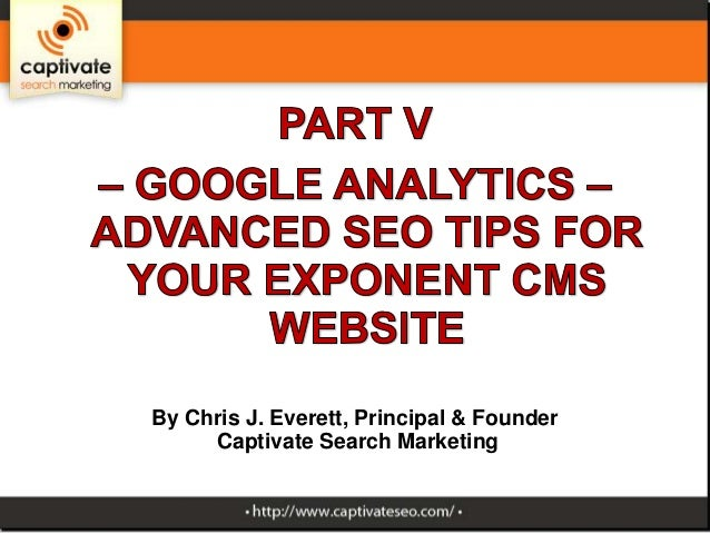 Part 5 of Advanced SEO tips for Exponent CMS