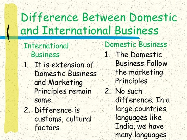 difference international