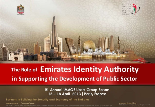 The Role of                                        Emirates Identity Authority          in Supporting the Development of P...