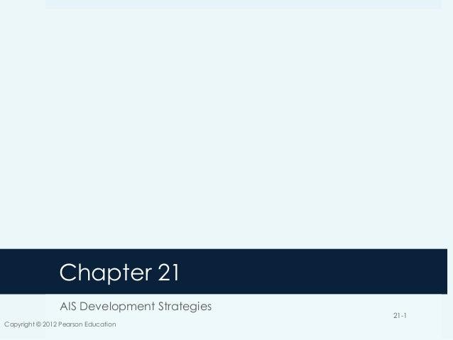 Chapter 21 AIS Development Strategies Copyright © 2012 Pearson Education  21-1