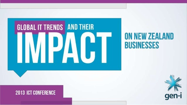 Key Global IT trends and their impact to New Zealand business