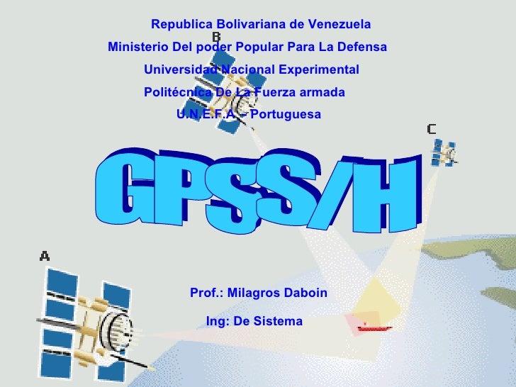 Republica Bolivariana de Venezuela Ministerio Del poder Popular Para La Defensa Universidad Nacional Experimental  Politéc...