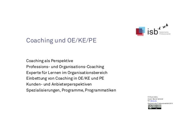 PE OE orientiertes Coaching isb-update-2014
